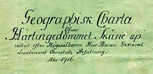 karta Skåne 1716