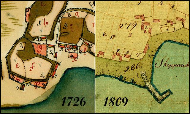 Skepparkroken 1726 och 1809