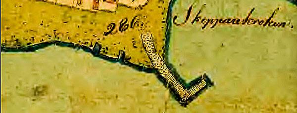 Skepparkroken enskifte 1809 karta