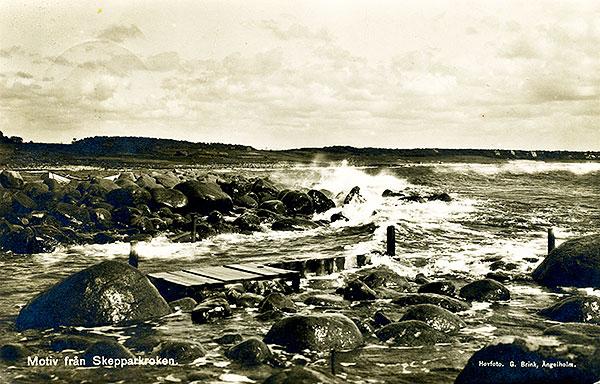 Kås Skepparkroken vykort 1929