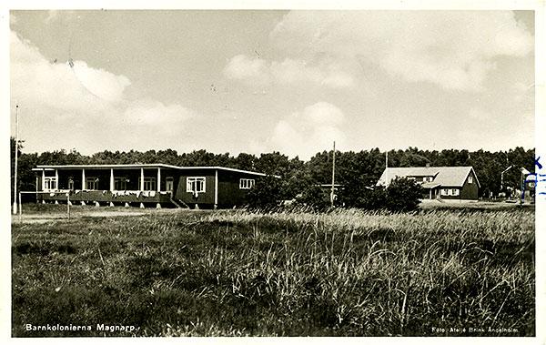 Vykort 1951 barnkoloni Björkhagen