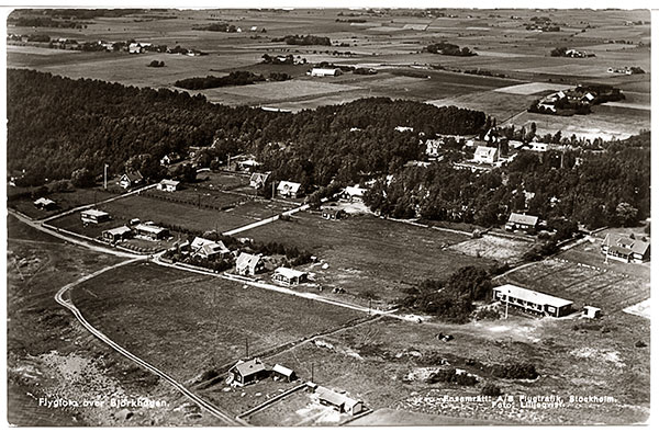 Björkhagen vykort flygfoto 1935