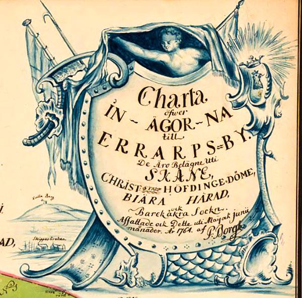 Karta för Errarp 1764, Kartbeskrivningen