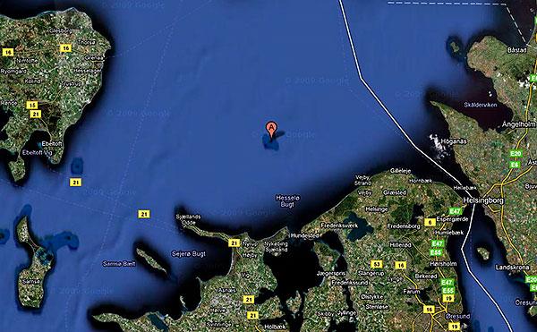 Hesselö i Kattegatt från Google Maps