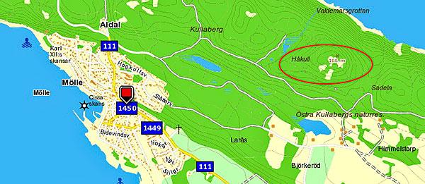 Hofkull, Håkull på Kullaberg