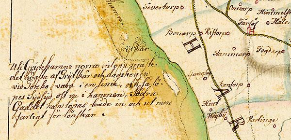 Grytehamn, Grytan på Buhrmans karta från 1684 Stora Hult