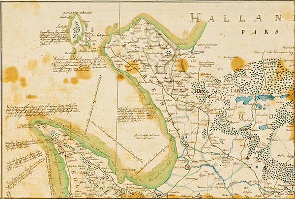 NV karta Skåne 1684 Gerhard Buhrman kopierad Gustaf Kock