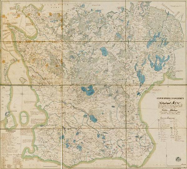 Karta Skåne 1684 Gerhard Buhrman Gustaf Kock