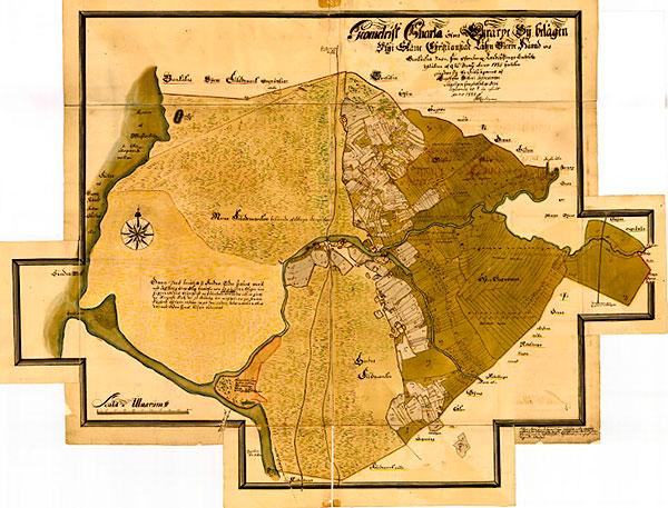Geometrisk karta över Errarp 1727 Skälderviken Skelderviken