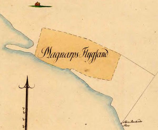 Magnarps flygsandsfält 1791 Björkhagen Magnarp Engeltofta