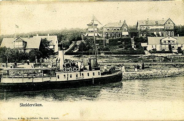 Samhället Skälderviken 1905 Skälderviken Engelholms hamn