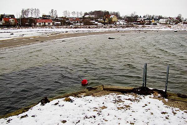 Skepparkroken från bryggan vid lågvatten  i januari 2010