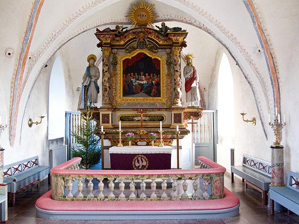 Barkåkra kyrkas altare