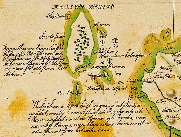 Hallands Väderö enligt Gerhard Buhrman 1684