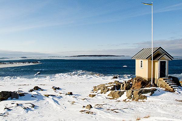 Hallands Väderö sedd från Torekov i februari 2010