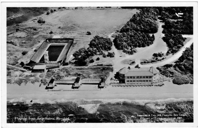 Simstadion vid Ängelholms Havsbad c:a 1950