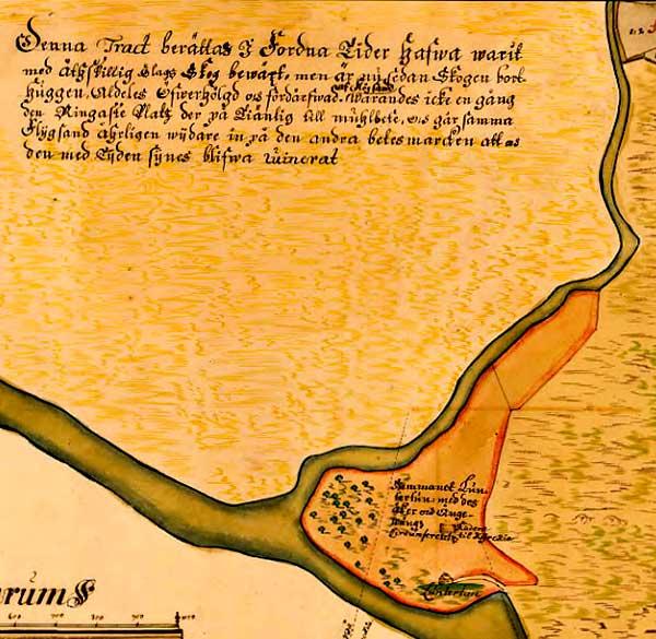 Luntertun på Lantmäteriets historiska karta från 1727