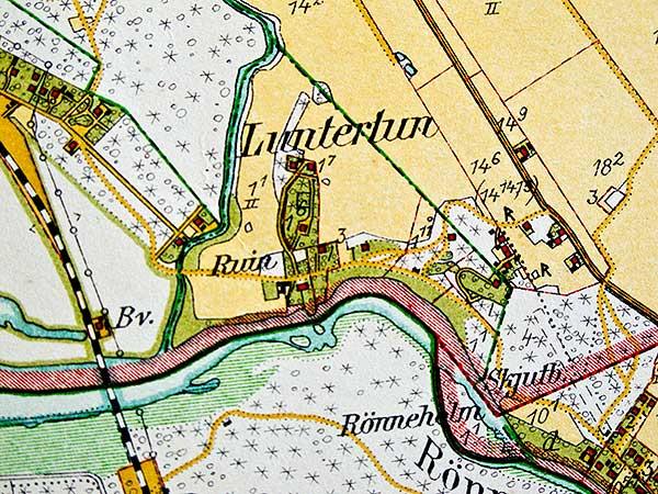 Luntertun på häradekonomiska kartan från 1926