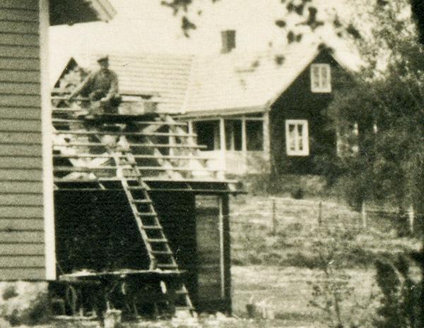 Affären i Björkhagen c:a år 1930 - del av vykort
