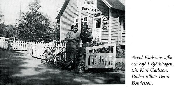 Björkhagens affär c:a 1935 - Bild från Boken om Magnarp