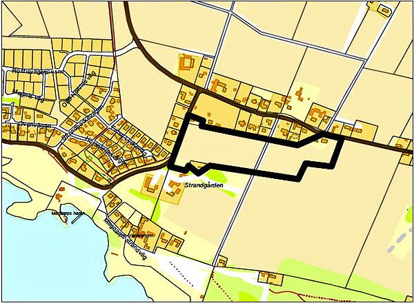 Planområde för Samrådsförslag till detaljplan för Magnarp 64:1