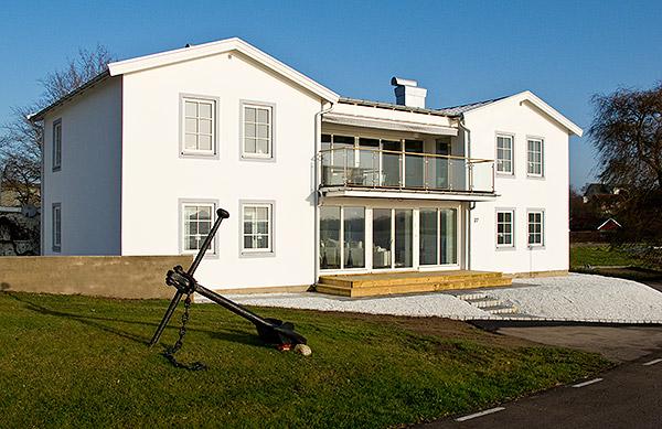 Villa Strandbaden i Skepparkroken i november 2009