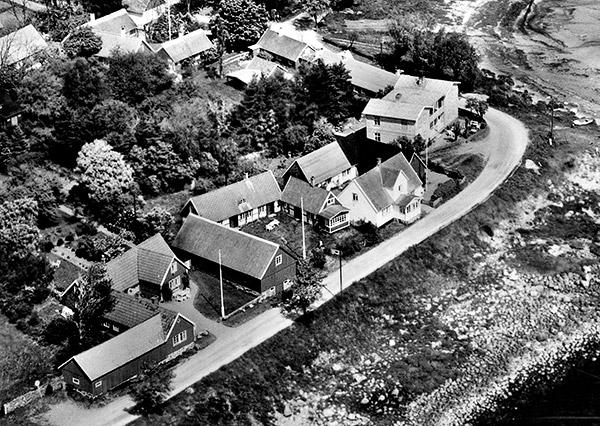 Del av flygfoto över Skepparkroken 1959