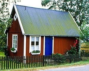 Gustav Svenssons stuga vid Skepparkroksvägen (1980-talet)