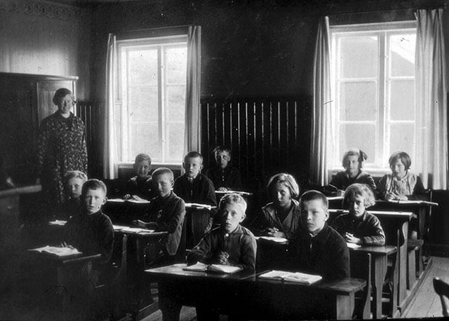 Skolan i Skepparkroken 1932 (foto från Evy Hulth)
