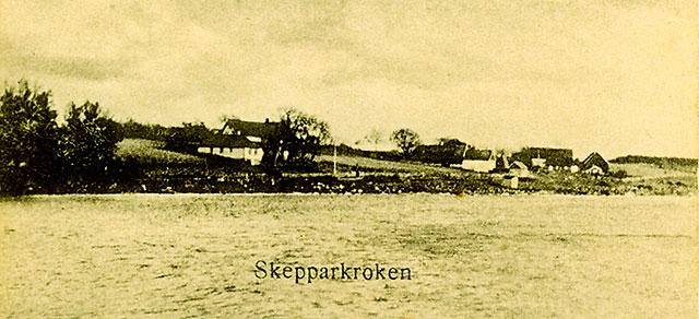 Almgården, Thörns gård och Skepparegården c:a 1910