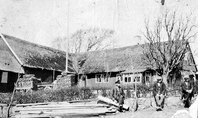 Thörns gård i Skepparkroken c:a 1910
