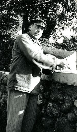 Fiskare Sture Andersson i Skepparkroken c:a 1950