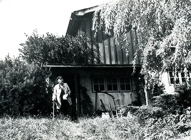 Handlaren Otto Hedström i Skepparkroken c:a 1950