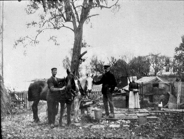 Vy från Hulths gård i Skepparkroken c:a 1910