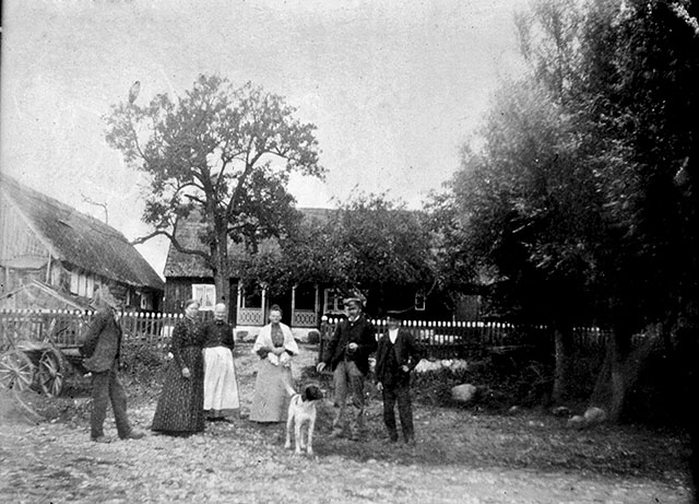 Hulths gård i Skepparkroken c:a 1910