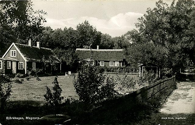 Huset i Björkhagen som Brynolf byggde på ett vykort från c:a 1930