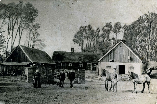 Villa Mathilda i Björkhagen c:a 1890 (bilden lånad av Gullvi Carlsson)