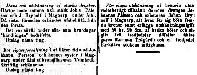 Brynolf i Norra-Skåne 1895-10-03 och 1895-10-29