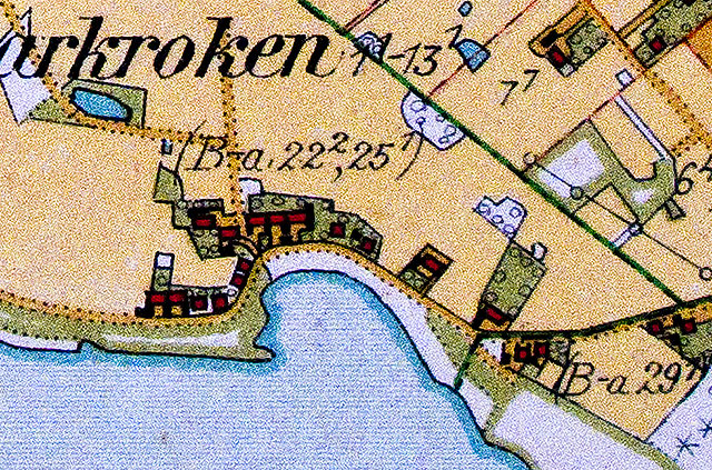 Skepparkroken på Häradsekonomiska kartan från 1928