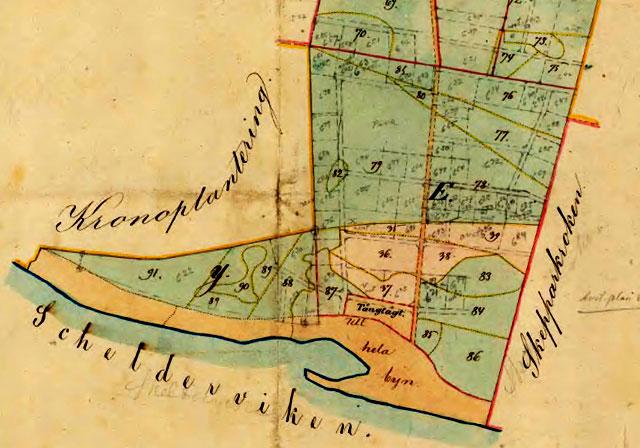 Planen för Björkhagen från 1866