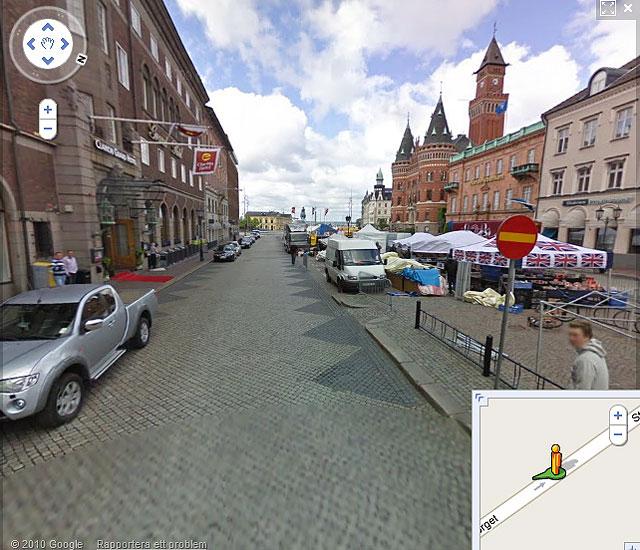 Exempel på Google Streetview från Helsingborg