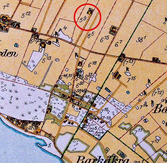 Gården Magnarp 5:9 på häradsekonomiska kartan från 1928