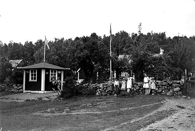 Café i Björkhagen på 1920-talet (foto Robert Romberg)