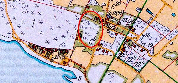 Björkhagsdungen som den såg ut på Häradsekonomiska kartan 1928