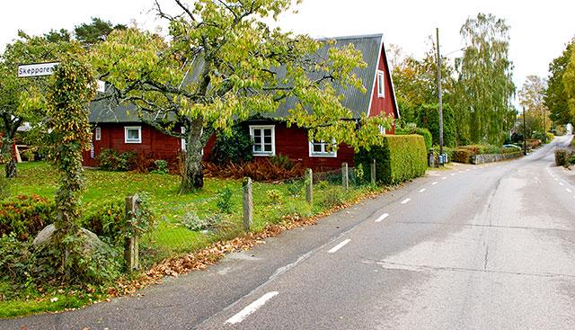 Skepparen Johannes Nilssons hus i Björkhagen i oktober 2010