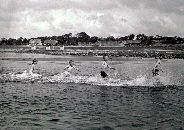 Magnarps Strand på 1920-talet (foto Robert Romberg)
