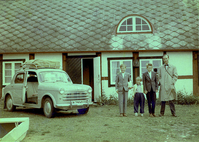 Nordfeldts gård i Skepparkroken (Foto Marianne Larsson 1956)