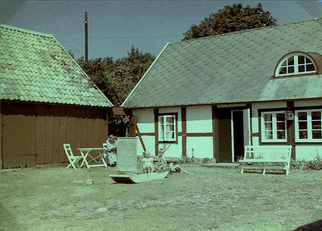 Nordfeldts gård i Skepparkroken (Foto Staffan Larsson 1956)