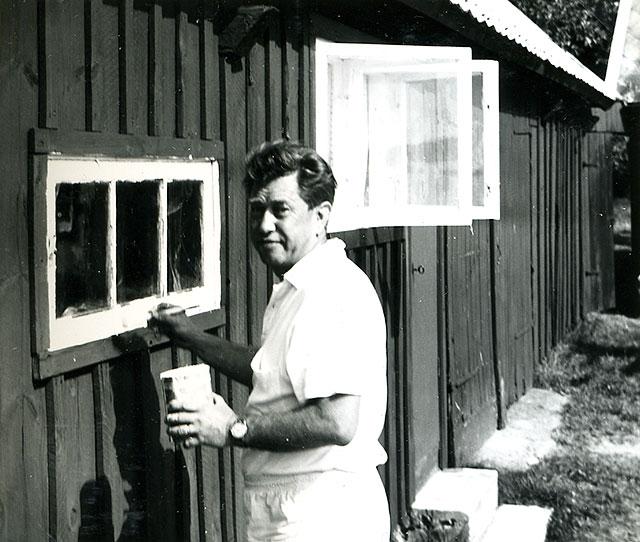 Sjökapten Otto Nordfeldt (Foto Staffan Larsson 1956)