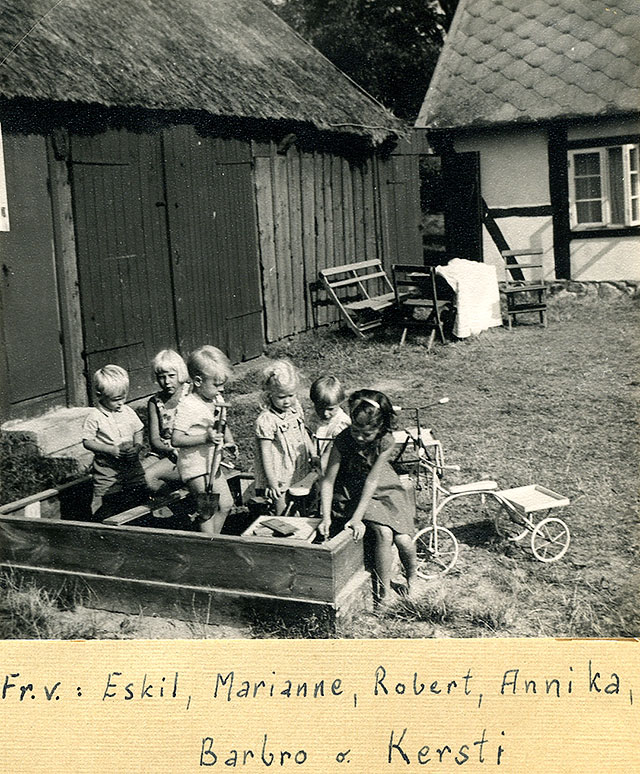 Nordfeldts gård i Skepparkroken (Foto Staffan Larsson 1955)